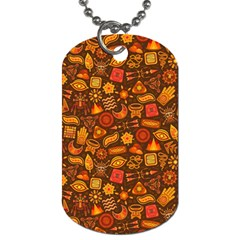 Pattern Background Ethnic Tribal Dog Tag (two Sides) by Amaryn4rt