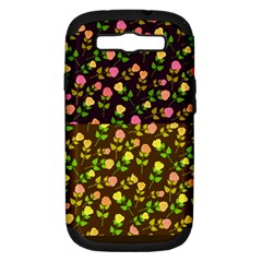 Flowers Roses Floral Flowery Samsung Galaxy S Iii Hardshell Case (pc+silicone)