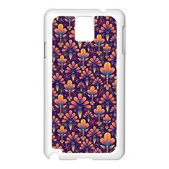 Abstract Background Floral Pattern Samsung Galaxy Note 3 N9005 Case (white)