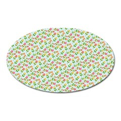 Flowers Roses Floral Flowery Oval Magnet