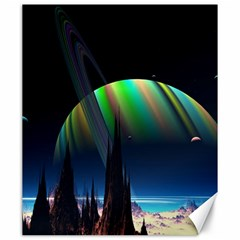 Planets In Space Stars Canvas 20  X 24   by Amaryn4rt