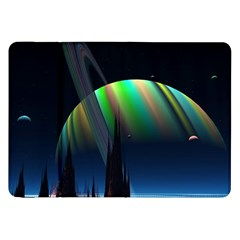 Planets In Space Stars Samsung Galaxy Tab 8 9  P7300 Flip Case by Amaryn4rt