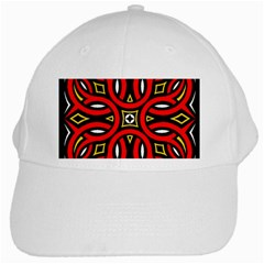 Traditional Art Pattern White Cap by Amaryn4rt