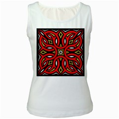 Traditional Art Pattern Women s White Tank Top by Amaryn4rt