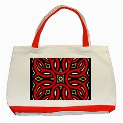 Traditional Art Pattern Classic Tote Bag (red) by Amaryn4rt