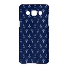 Anchor Pattern Samsung Galaxy A5 Hardshell Case  by Amaryn4rt