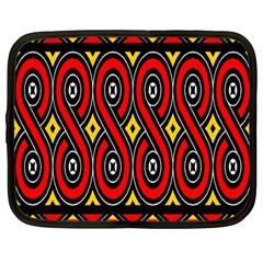 Toraja Traditional Art Pattern Netbook Case (large) by Amaryn4rt