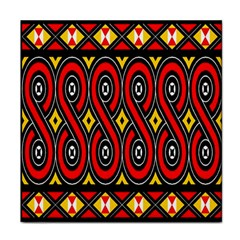 Toraja Traditional Art Pattern Face Towel by Amaryn4rt