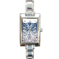 Owl Rectangle Italian Charm Watch by Amaryn4rt