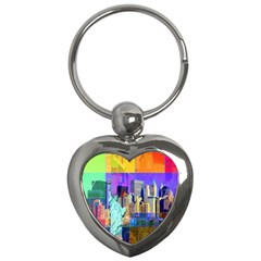 New York City The Statue Of Liberty Key Chains (heart)  by Amaryn4rt