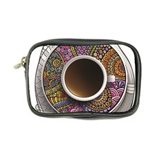 Ethnic Pattern Ornaments And Coffee Cups Vector Coin Purse by Amaryn4rt