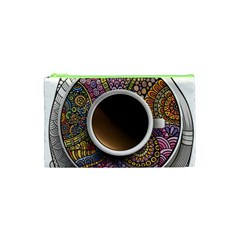 Ethnic Pattern Ornaments And Coffee Cups Vector Cosmetic Bag (xs) by Amaryn4rt