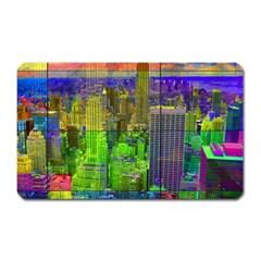 New York City Skyline Magnet (rectangular) by Amaryn4rt
