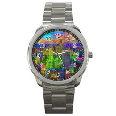 New York City Skyline Sport Metal Watch by Amaryn4rt