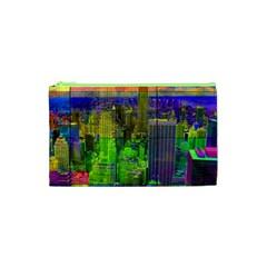 New York City Skyline Cosmetic Bag (xs)
