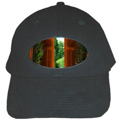 Beautiful World Entry Door Fantasy Black Cap by Amaryn4rt