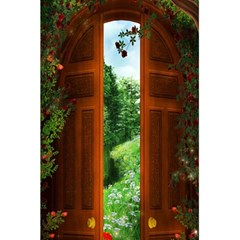 Beautiful World Entry Door Fantasy 5 5  X 8 5  Notebooks by Amaryn4rt