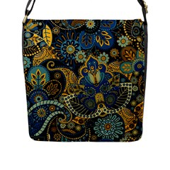 Retro Ethnic Background Pattern Vector Flap Messenger Bag (l)  by Amaryn4rt