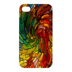 Stained Glass Patterns Colorful Apple Iphone 4/4s Premium Hardshell Case by Amaryn4rt