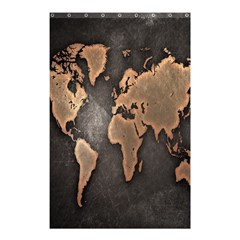 Grunge Map Of Earth Shower Curtain 48  X 72  (small)  by Amaryn4rt