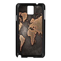 Grunge Map Of Earth Samsung Galaxy Note 3 N9005 Case (Black)