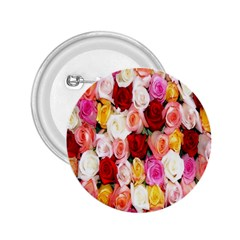 Rose Color Beautiful Flowers 2 25  Buttons