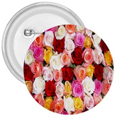 Rose Color Beautiful Flowers 3  Buttons by Amaryn4rt