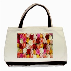 Rose Color Beautiful Flowers Basic Tote Bag by Amaryn4rt