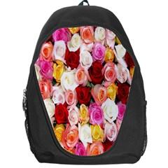 Rose Color Beautiful Flowers Backpack Bag by Amaryn4rt