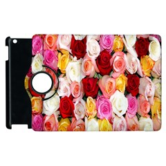 Rose Color Beautiful Flowers Apple Ipad 2 Flip 360 Case by Amaryn4rt