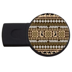 African Vector Patterns USB Flash Drive Round (4 GB) by Amaryn4rt