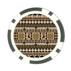African Vector Patterns Poker Chip Card Guard by Amaryn4rt