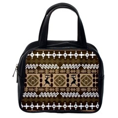 African Vector Patterns Classic Handbags (one Side)