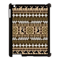 African Vector Patterns Apple Ipad 3/4 Case (black)