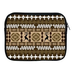 African Vector Patterns Apple Ipad 2/3/4 Zipper Cases by Amaryn4rt