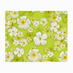 Frangipani Flower Floral White Green Small Glasses Cloth (2 Side) by Alisyart