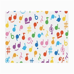 Notes Tone Music Purple Orange Yellow Pink Blue Small Glasses Cloth (2 Side) by Alisyart