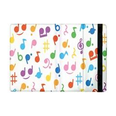 Notes Tone Music Purple Orange Yellow Pink Blue Ipad Mini 2 Flip Cases by Alisyart