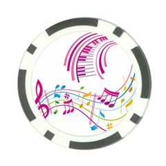 Musical Notes Pink Poker Chip Card Guard (10 Pack) by Alisyart