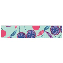 Passion Fruit Pink Purple Cerry Blue Leaf Flano Scarf (small) by Alisyart