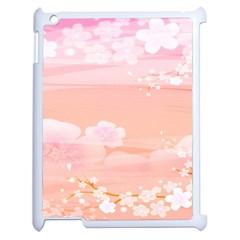 Season Flower Floral Pink Apple Ipad 2 Case (white) by Alisyart