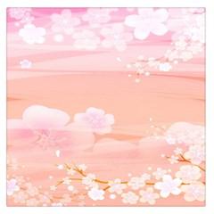 Season Flower Floral Pink Large Satin Scarf (square) by Alisyart