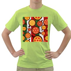 Pizza Italia Beef Flag Green T Shirt by Alisyart