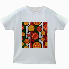 Pizza Italia Beef Flag Kids White T Shirts by Alisyart