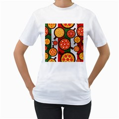 Pizza Italia Beef Flag Women s T Shirt (white)  by Alisyart