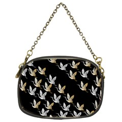 Goose Swan Gold White Black Fly Chain Purses (two Sides)  by Alisyart
