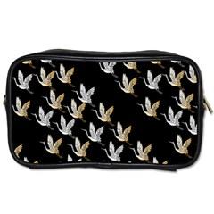 Goose Swan Gold White Black Fly Toiletries Bags by Alisyart