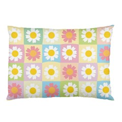 Season Flower Sunflower Blue Yellow Purple Pink Pillow Case by Alisyart