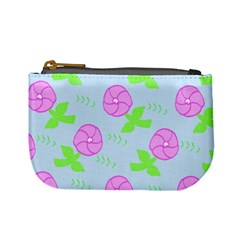 Spring Flower Tulip Floral Leaf Green Pink Mini Coin Purses by Alisyart