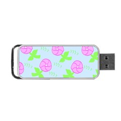 Spring Flower Tulip Floral Leaf Green Pink Portable Usb Flash (two Sides) by Alisyart